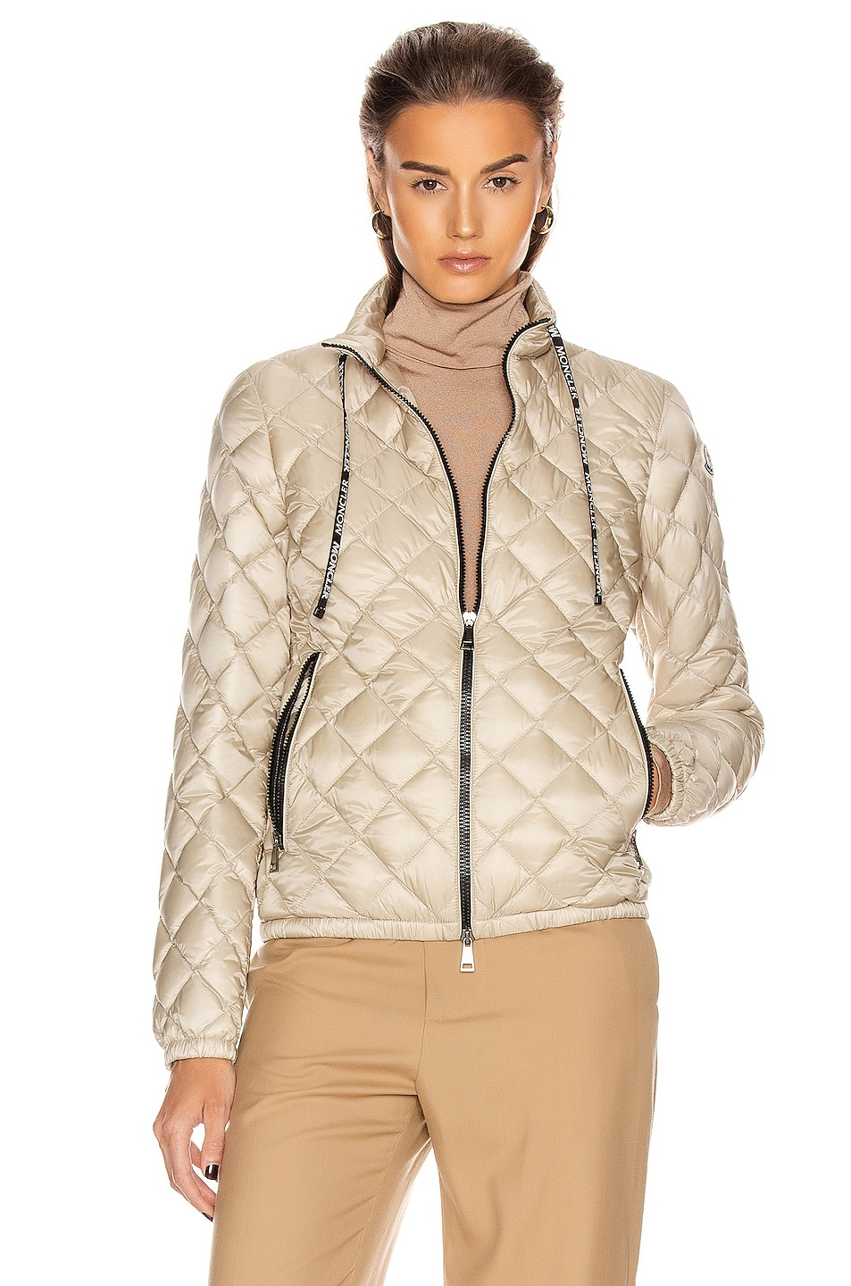 Image 2 of Moncler Lan Giubbotto Jacket in Champagne