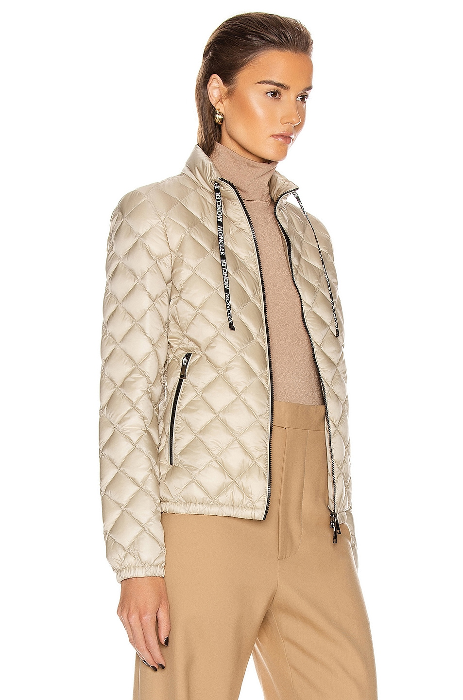 Image 3 of Moncler Lan Giubbotto Jacket in Champagne