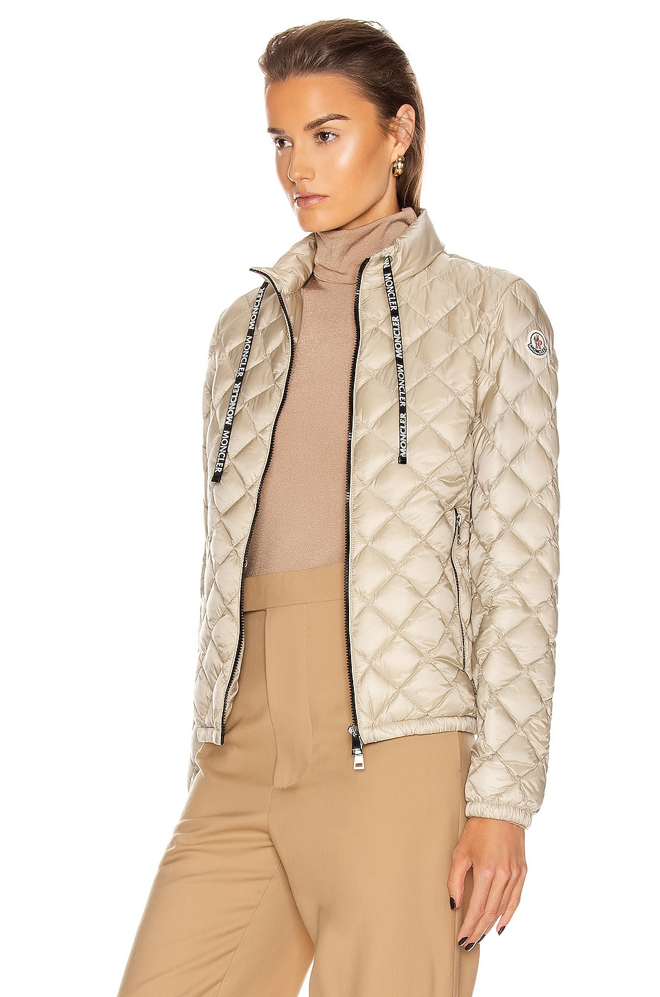 Image 4 of Moncler Lan Giubbotto Jacket in Champagne