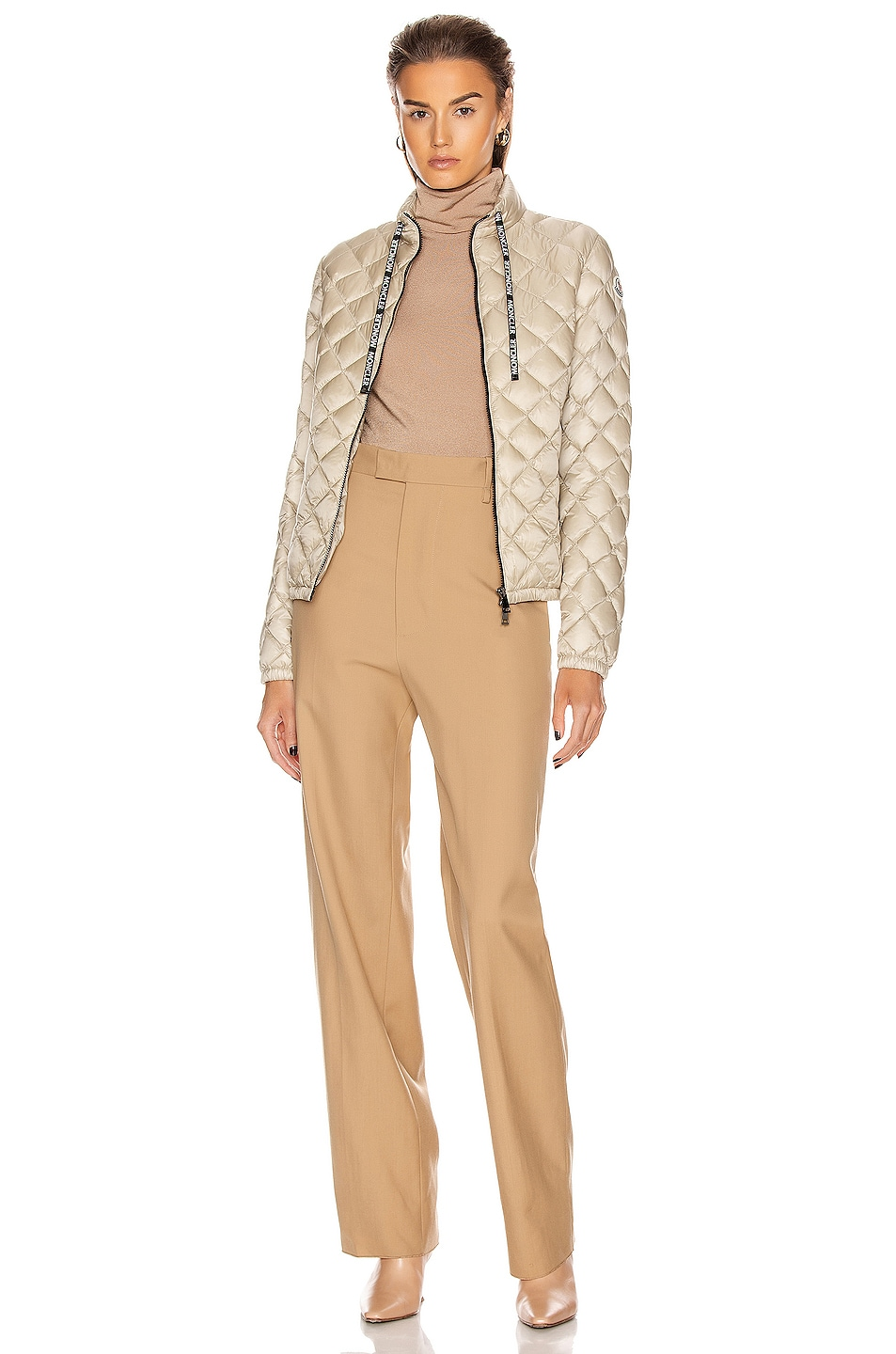 Image 6 of Moncler Lan Giubbotto Jacket in Champagne