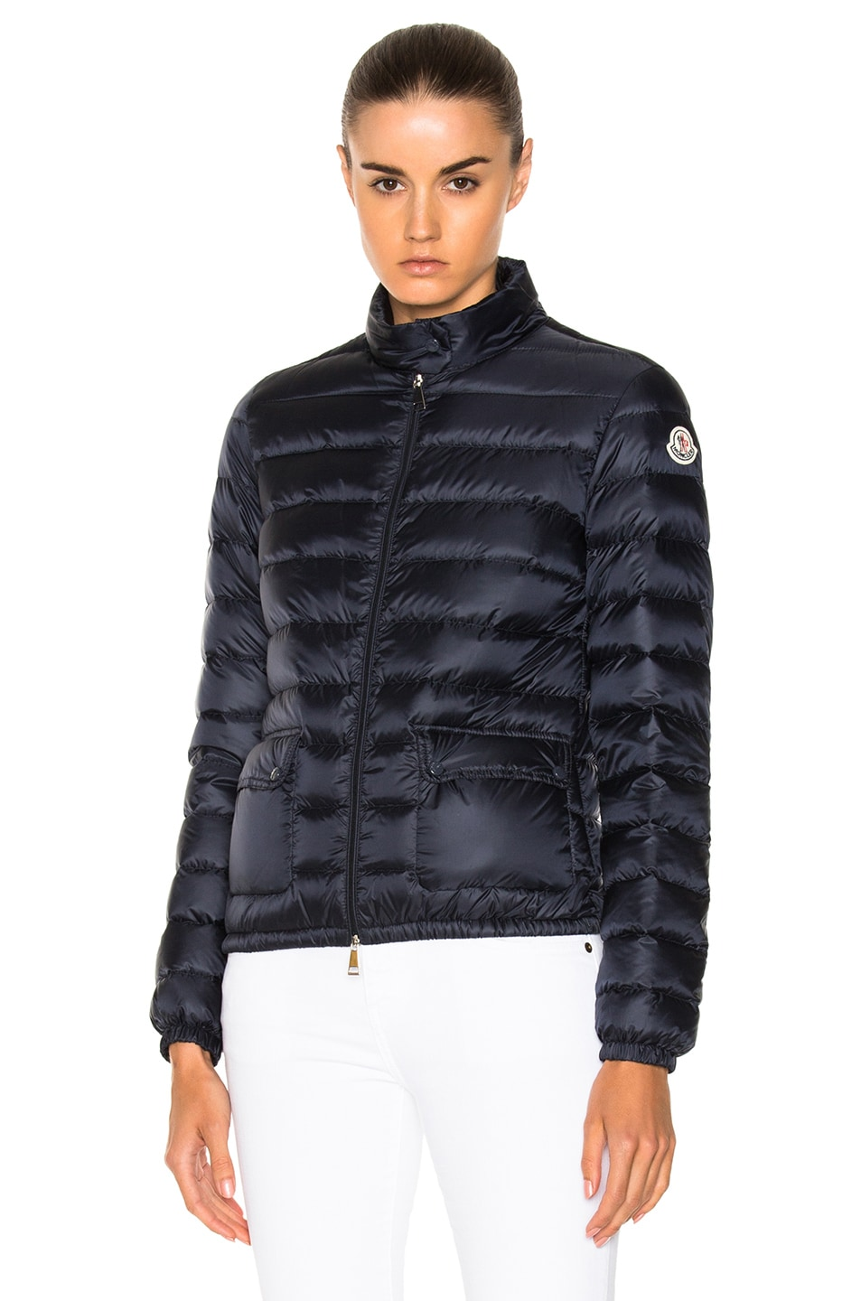 Image 2 of Moncler Lans Polyamide Jacket in Navy