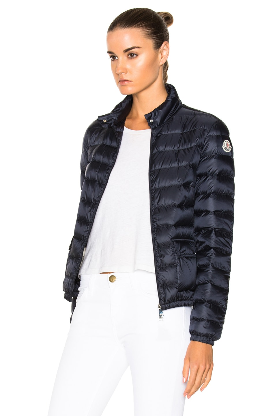 Image 3 of Moncler Lans Polyamide Jacket in Navy