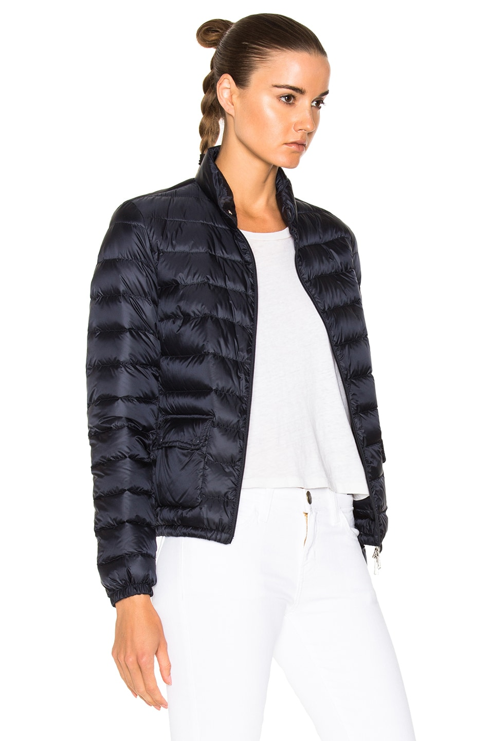Image 4 of Moncler Lans Polyamide Jacket in Navy