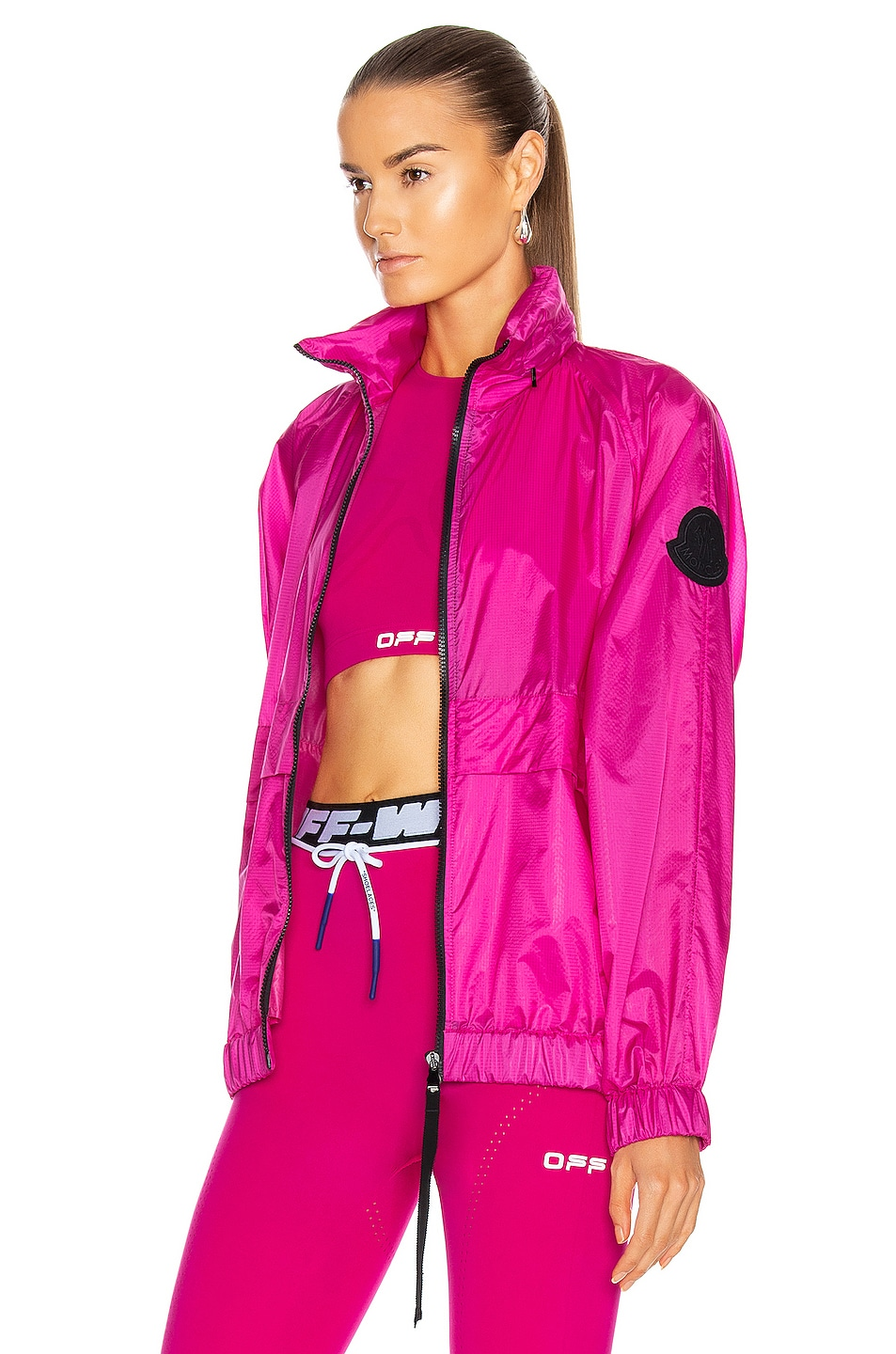Image 4 of Moncler Groseille Giubbotto Jacket in Pink