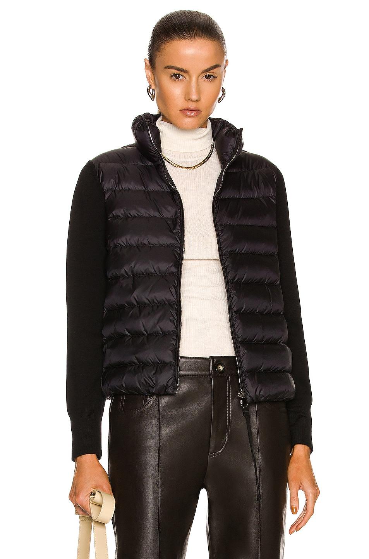 Image 1 of Moncler Maglia Cardigan Jacket in Black