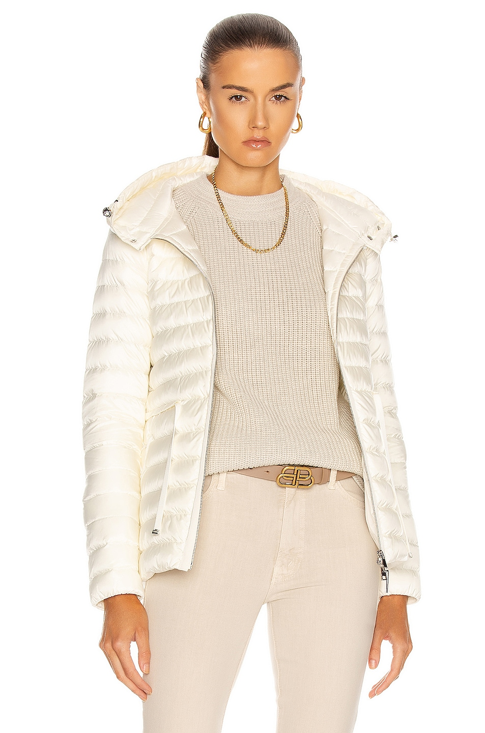 Image 1 of Moncler Raie Giubbotto Jacket in White