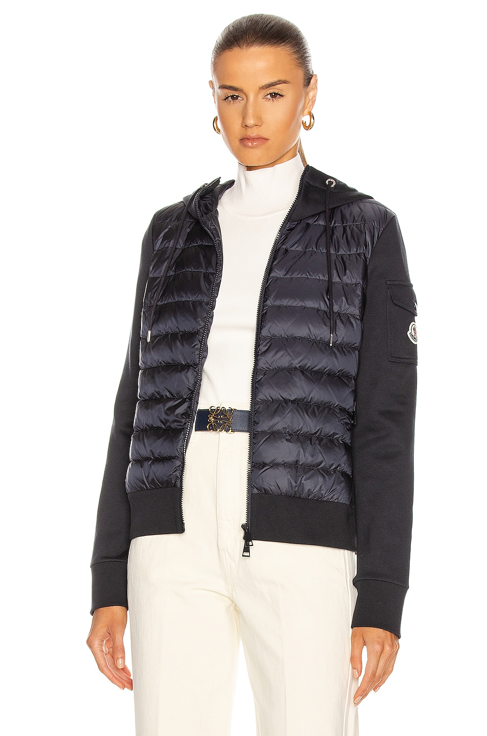 Image 1 of Moncler Maglia Cardigan Jacket in Navy