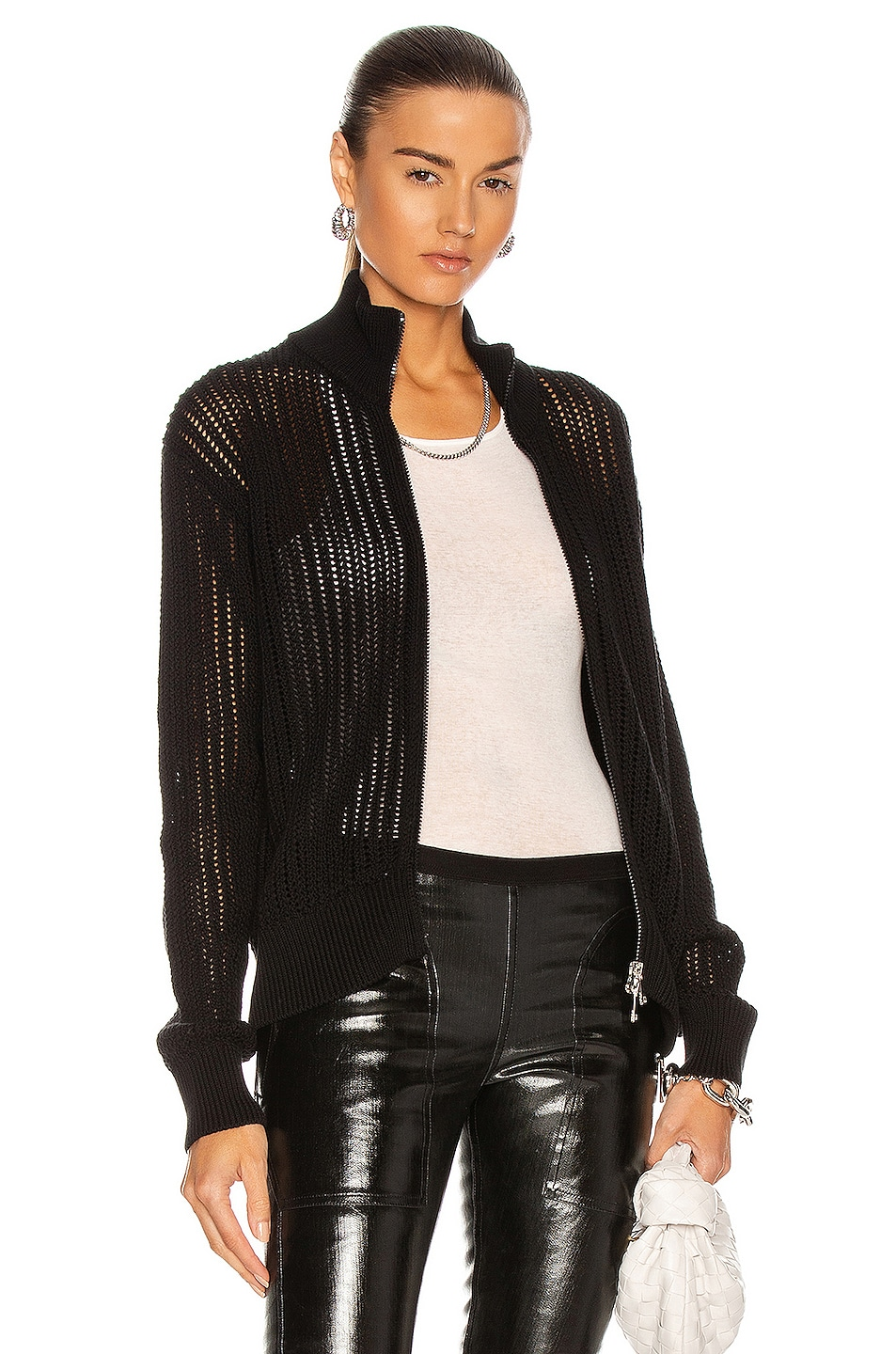 Image 1 of Moncler Cardigan Tricot Jacket in Black