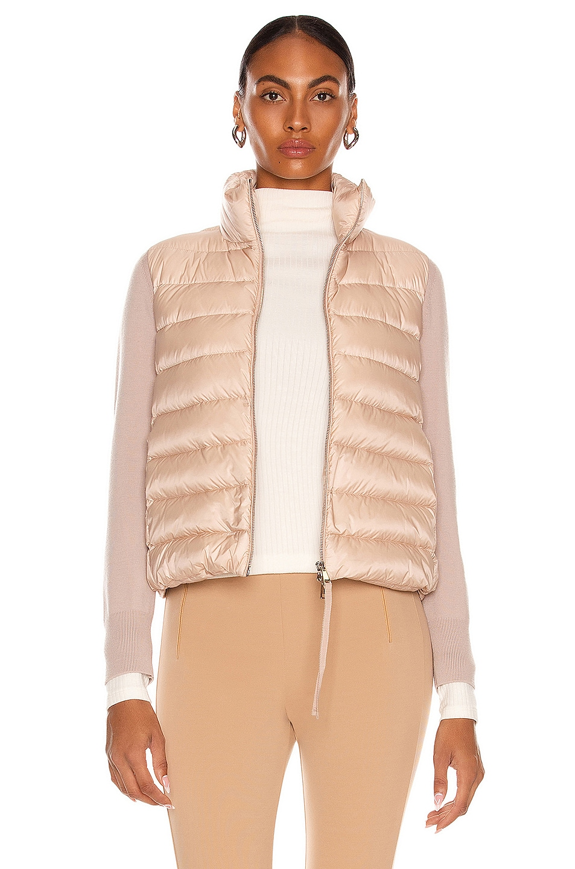 Image 1 of Moncler Maglia Cardigan Jacket in Blush