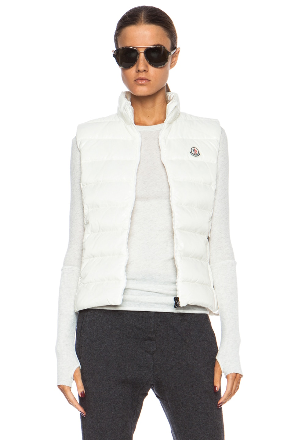 Image 1 of MONCLER Ghany Polyamide Vest in Cream