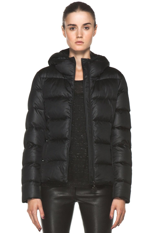 Image 1 of Moncler Jersey Coat in Black