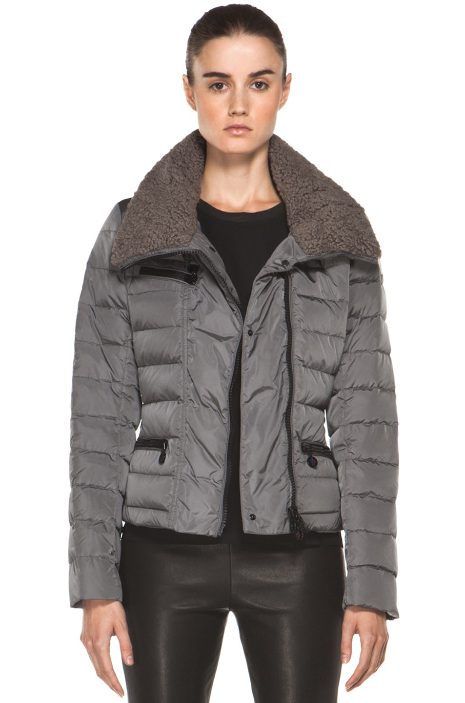 Image 1 of Moncler Frene Nylon Polyamide Coat in Grey