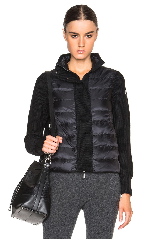Image 1 of MONCLER Knit Jacket in Black