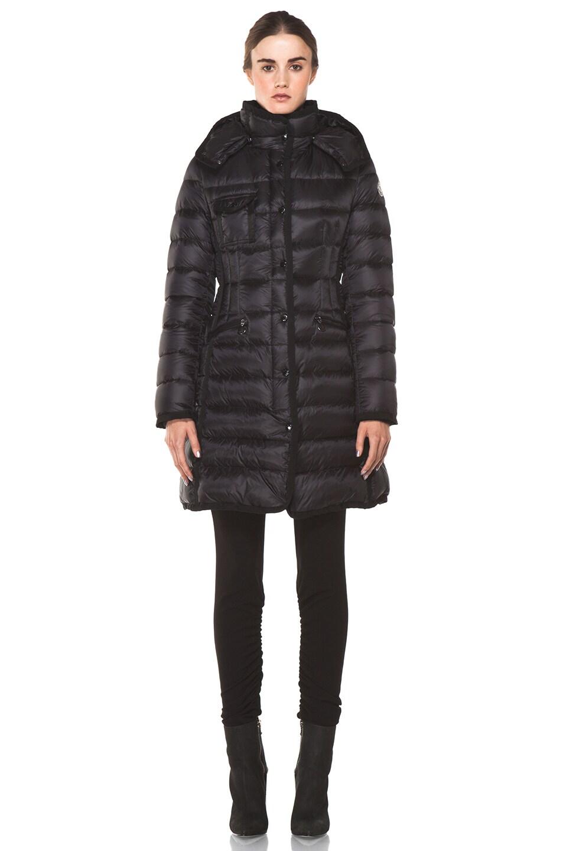Image 1 of Moncler Hermine Coat in Black