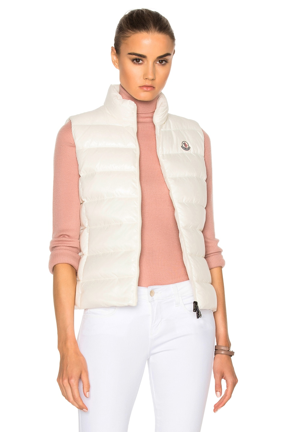 Image 1 of Moncler Ghany Gilet Vest in White