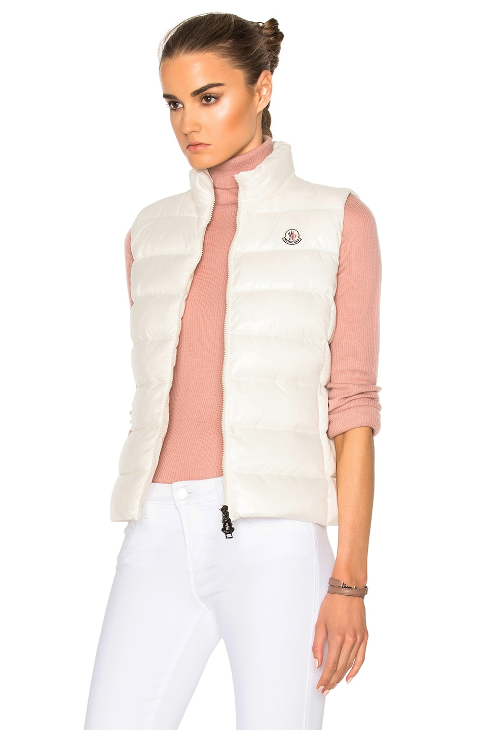 Image 4 of Moncler Ghany Gilet Vest in White