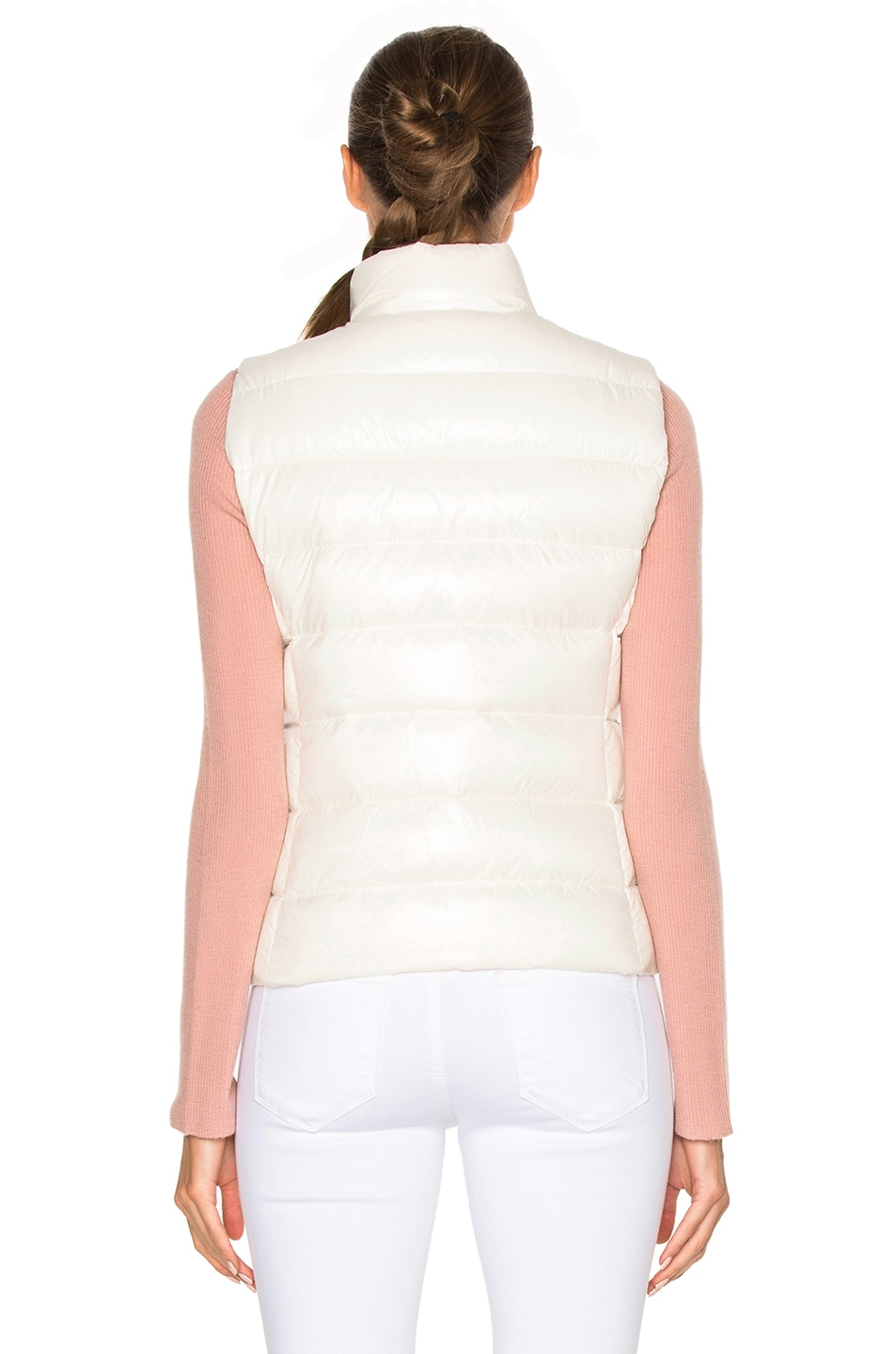 Image 5 of Moncler Ghany Gilet Vest in White