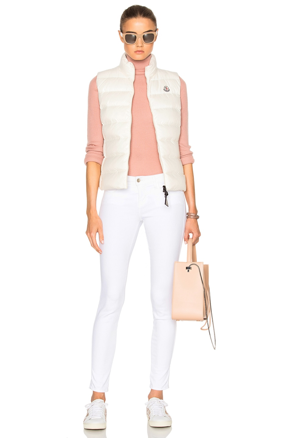 Image 6 of Moncler Ghany Gilet Vest in White