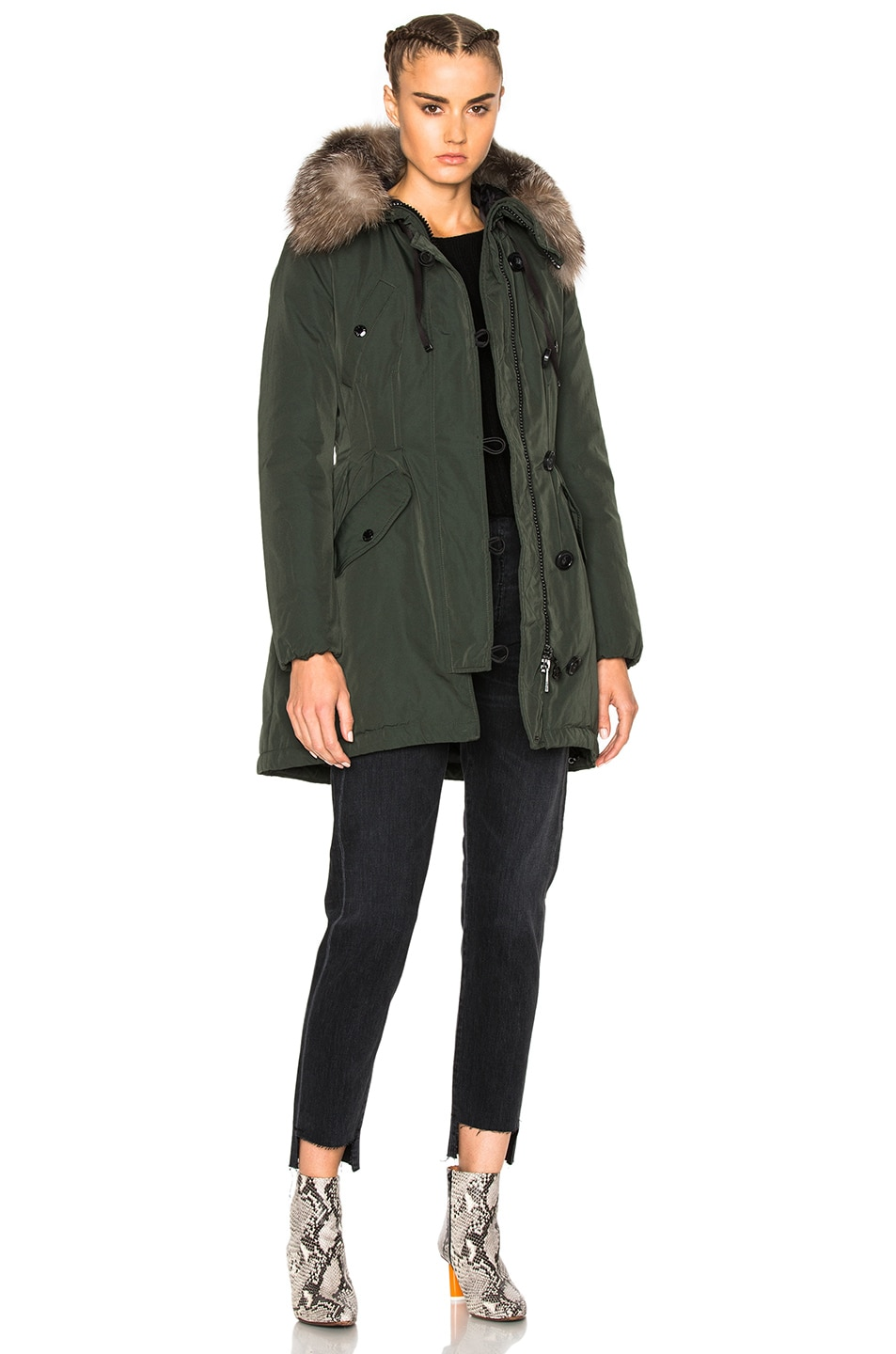Image 1 of Moncler Aredhel Giubbotto Jacket in Green