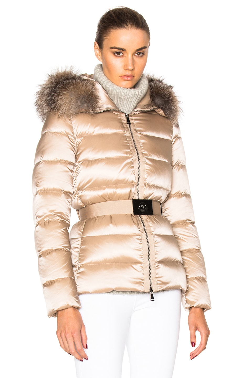 Image 1 of Moncler Tatie Giubbotto Jacket in Taupe