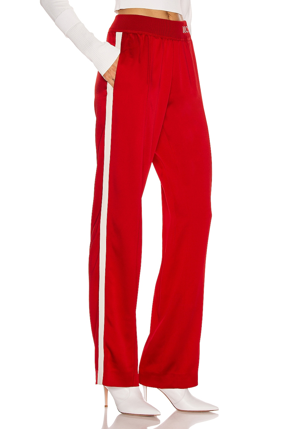 Image 3 of Moncler Logo Track Pant in Red
