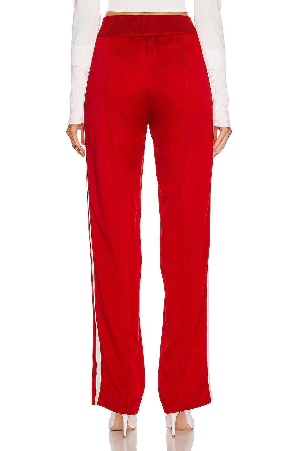 Image 4 of Moncler Logo Track Pant in Red