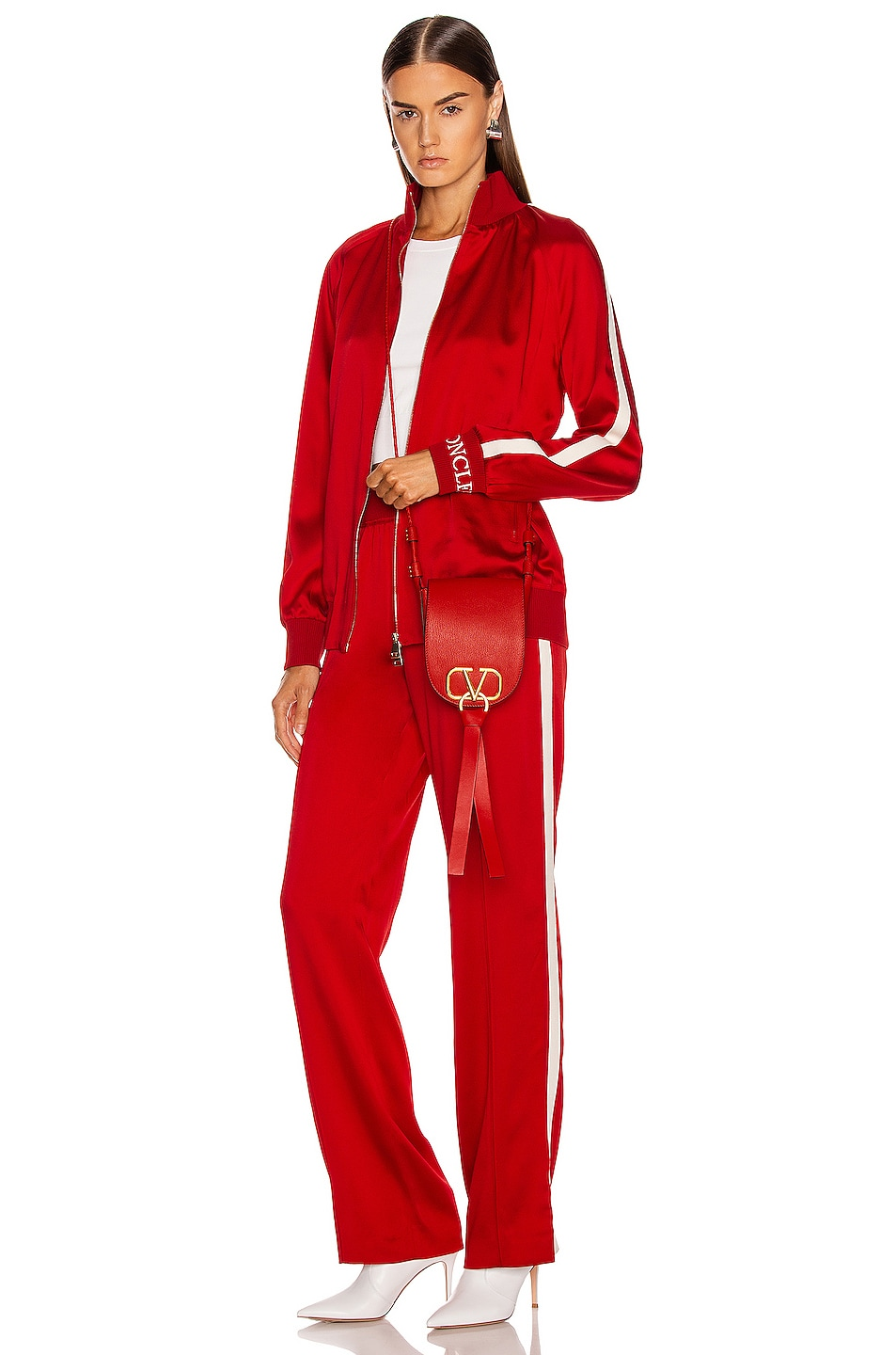 Image 5 of Moncler Logo Track Pant in Red