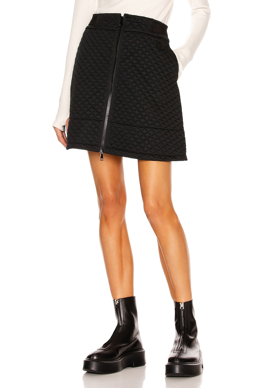 Image 1 of Moncler Zip Up Mini Skirt in Black