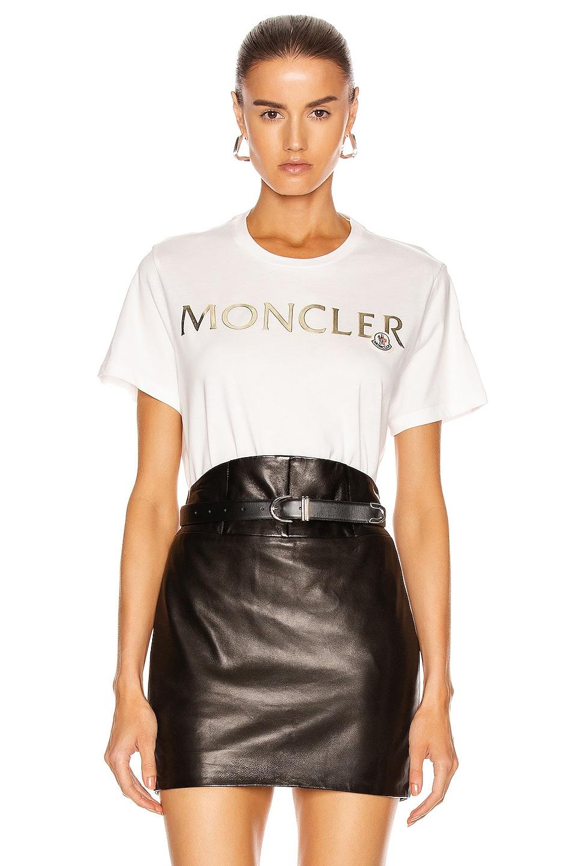 Image 1 of Moncler Girocollo T-Shirt in White