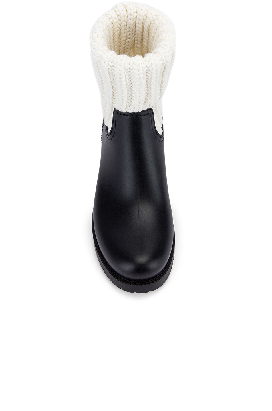Image 4 of Moncler Ginette Knit Boot in Black & White