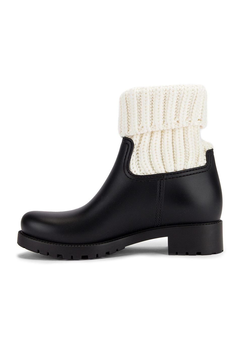 Image 5 of Moncler Ginette Knit Boot in Black & White