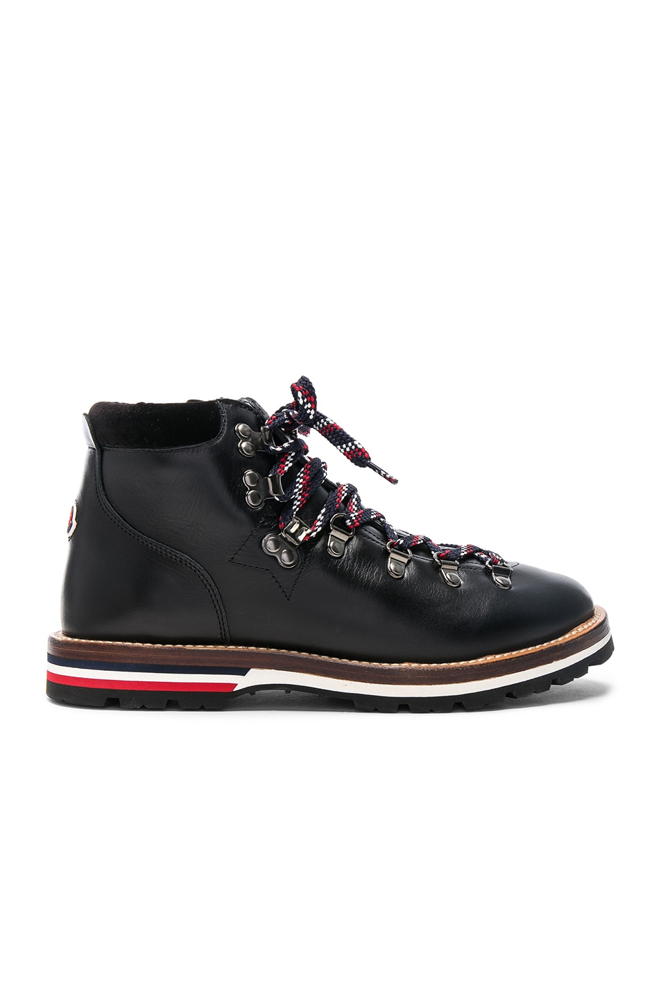 Image 1 of Moncler Leather Blanche Boots in Black