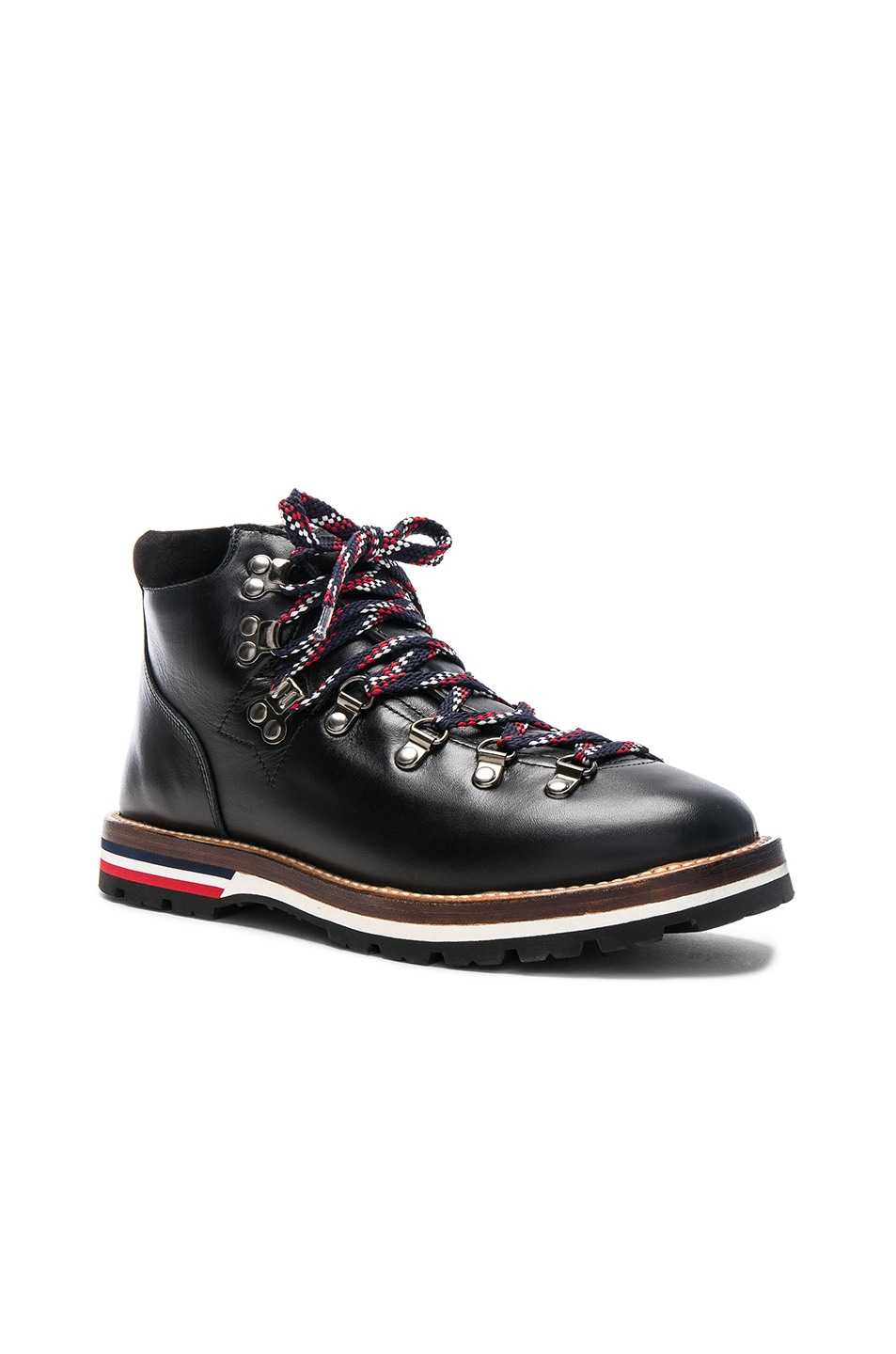 Image 2 of Moncler Leather Blanche Boots in Black