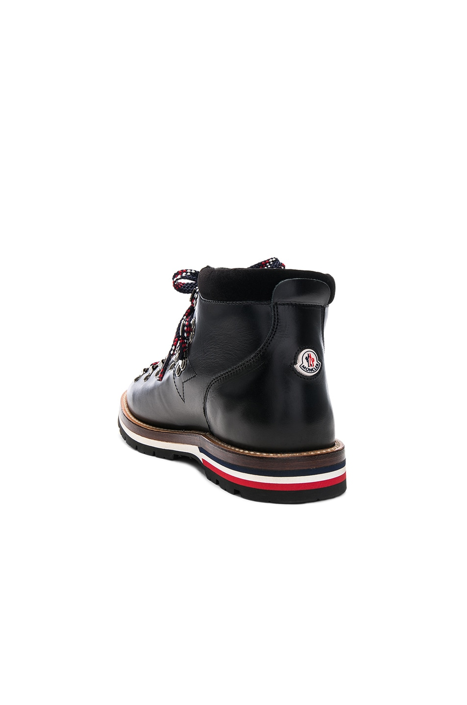 Image 3 of Moncler Leather Blanche Boots in Black