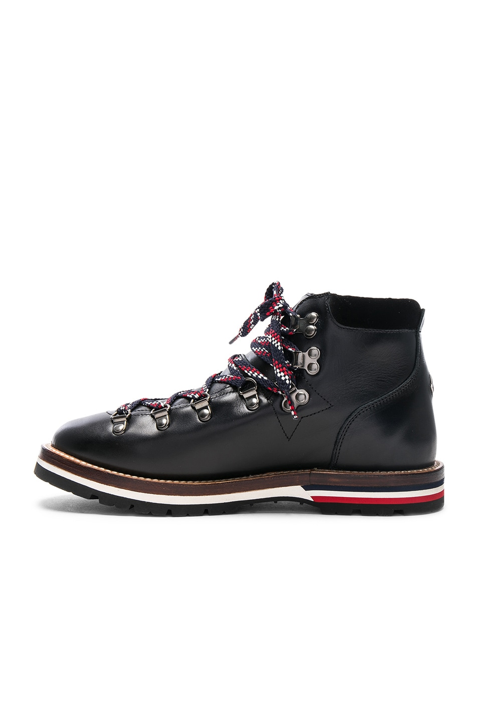 Image 5 of Moncler Leather Blanche Boots in Black