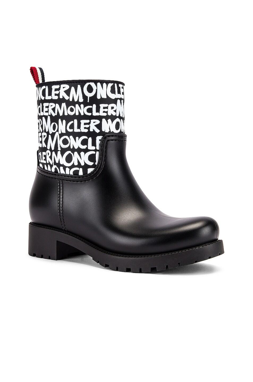 Image 2 of Moncler Ginette Logo Boot in Black