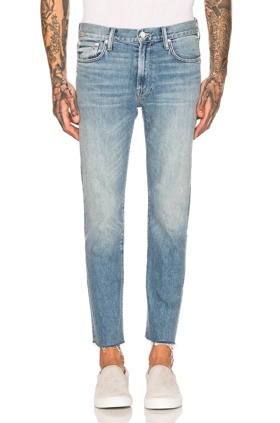 Image 1 of MOTHER The Joint Ankle Fray Jean in Weekend Garage