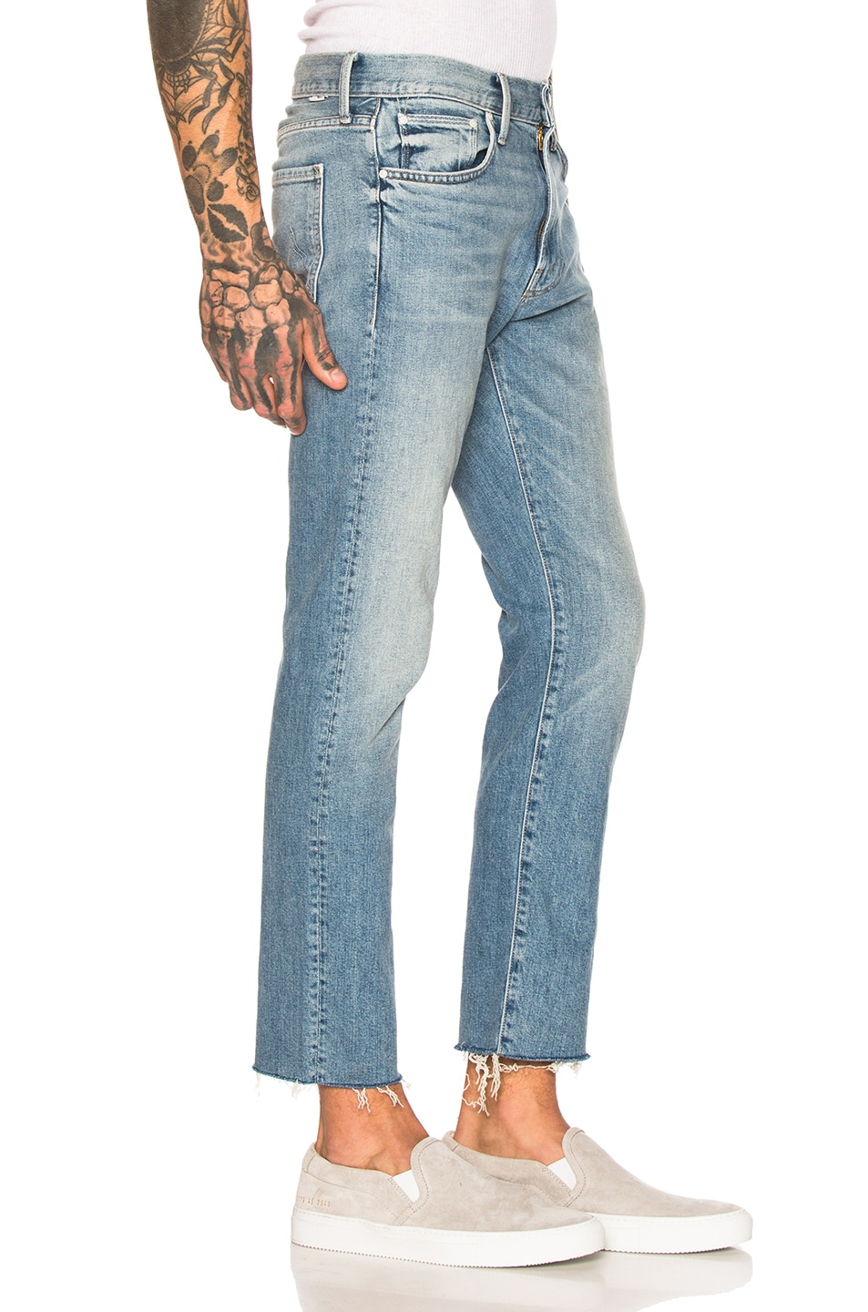 Image 2 of MOTHER The Joint Ankle Fray Jean in Weekend Garage