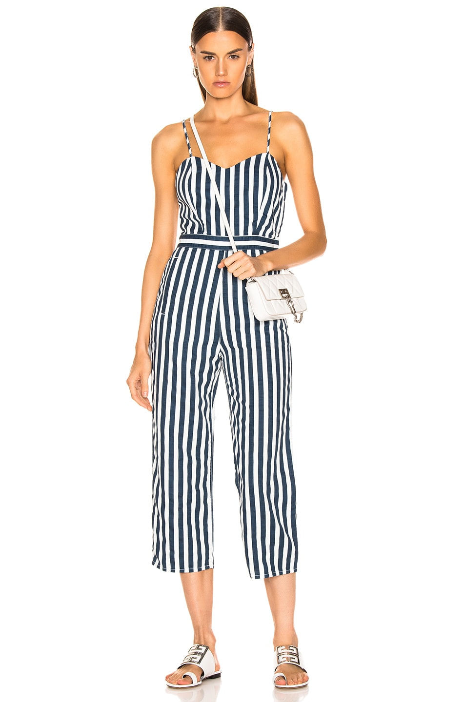 Image 1 of MOTHER Cut-It-Out Jumpsuit in Sea Dazer