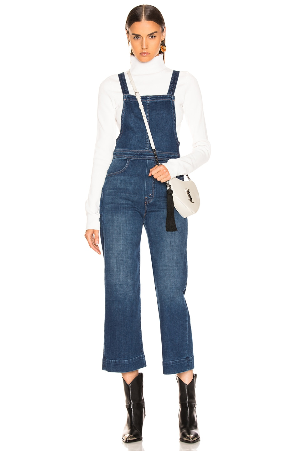 Image 1 of MOTHER Greaser Overall Crop in What I Had Before I Had You