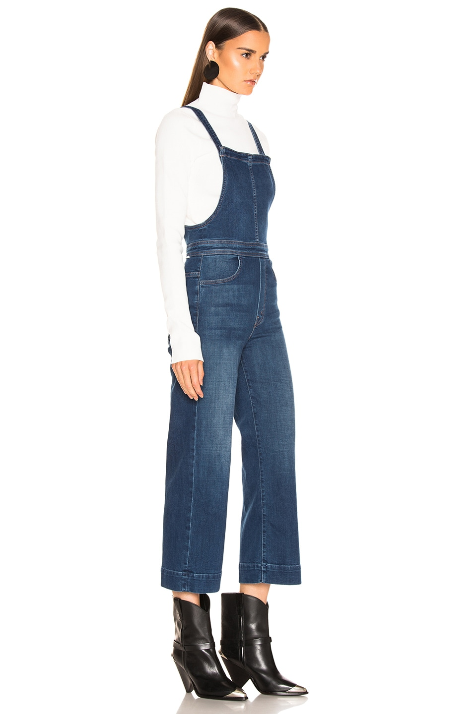 Image 2 of MOTHER Greaser Overall Crop in What I Had Before I Had You