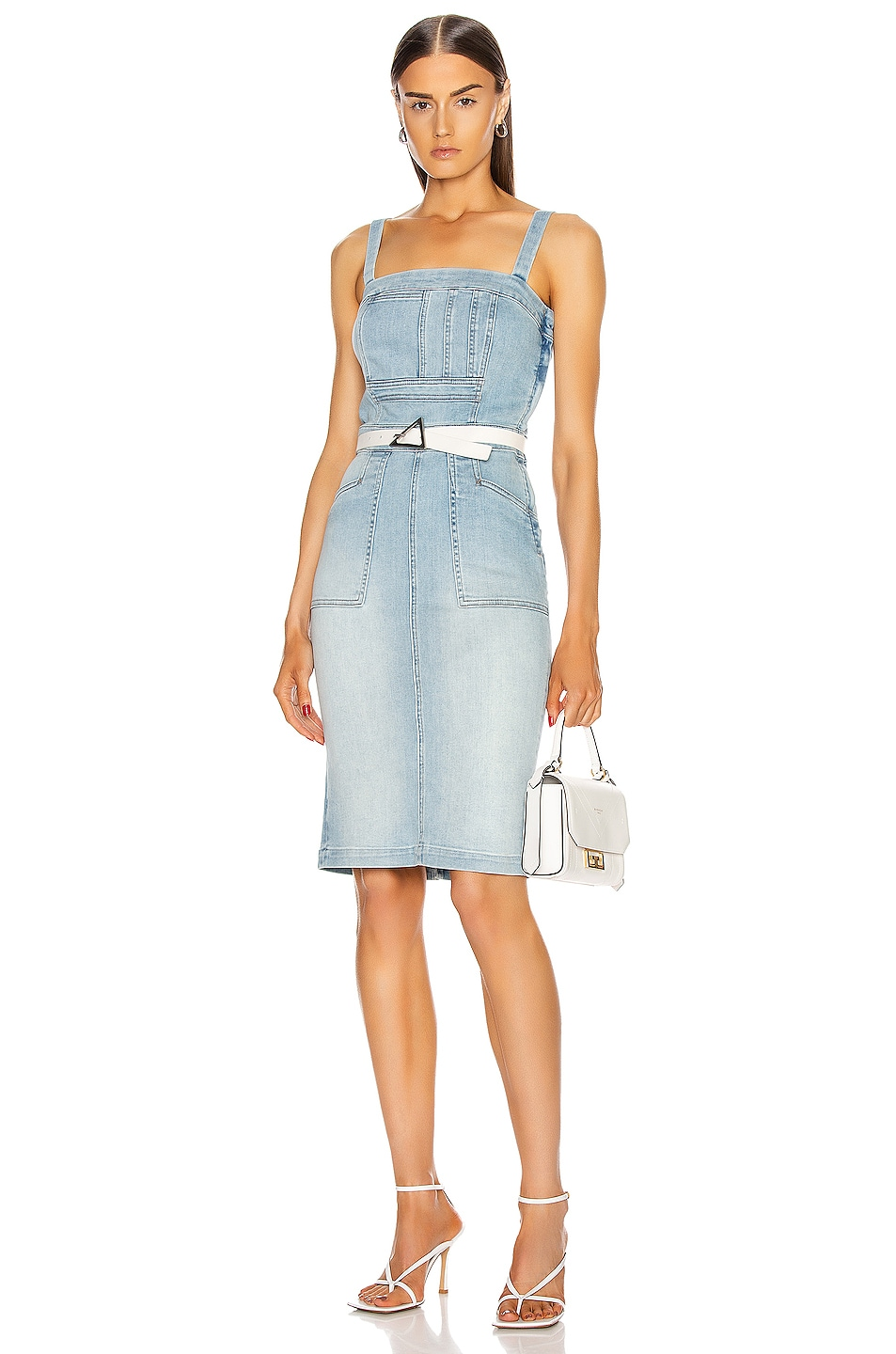 Image 1 of MOTHER Pocket Hustler Overall Dress in When In Rome