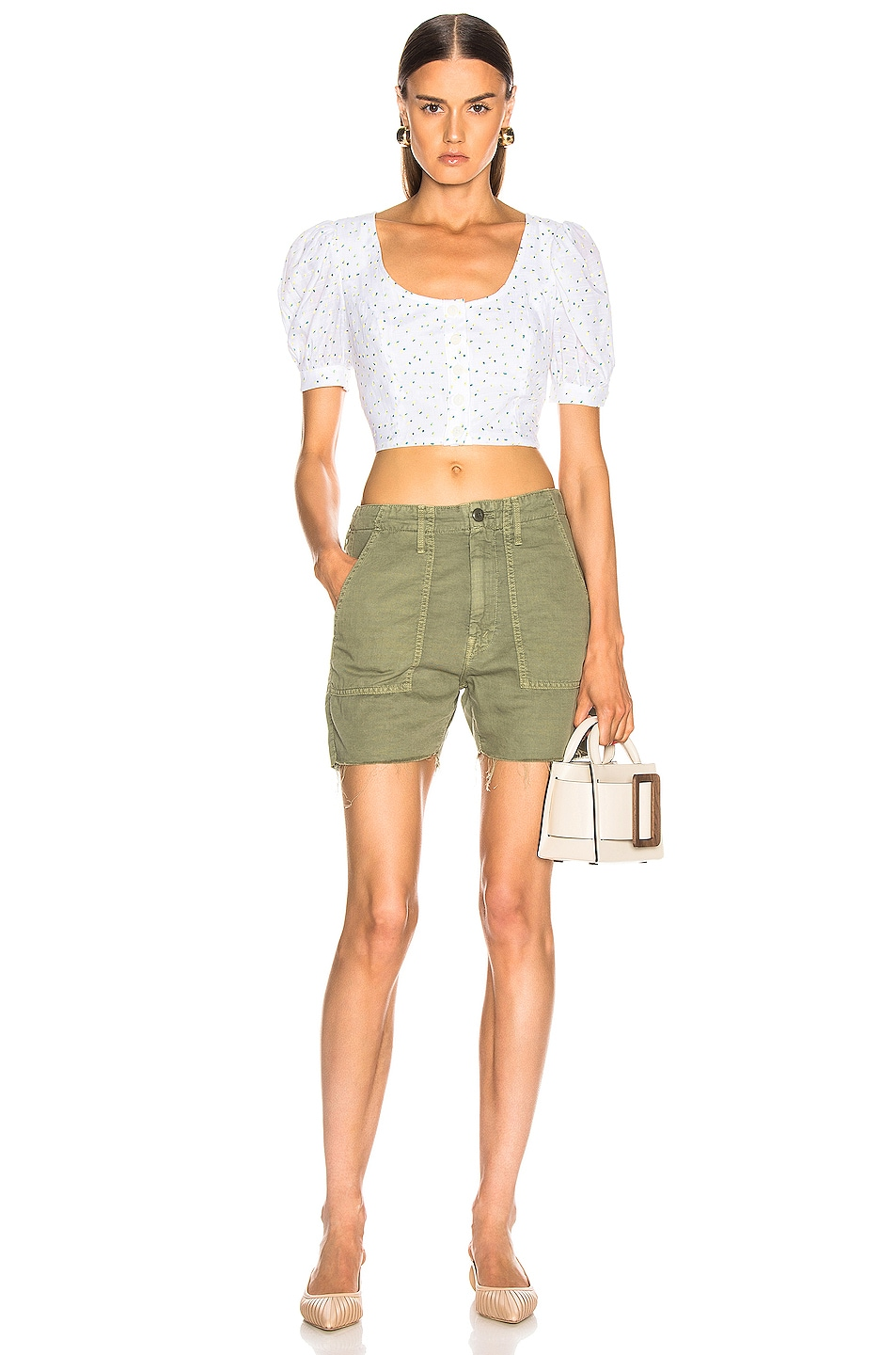 Image 4 of MOTHER Shaker Chop Short in Army Green
