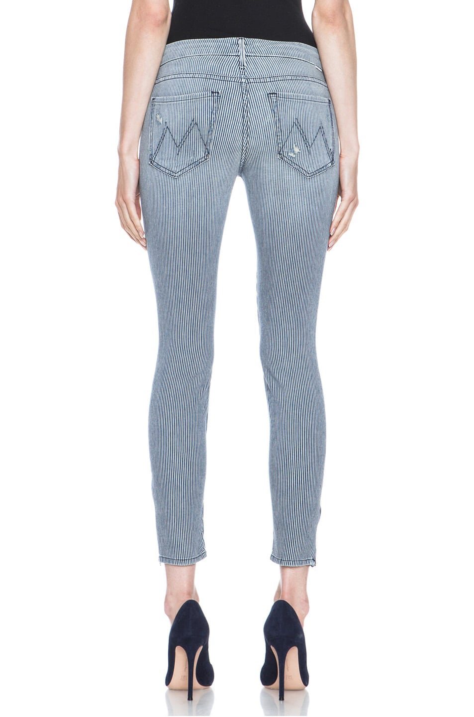 Image 4 of MOTHER Skinny Crop Jean Destroyed in On The Road