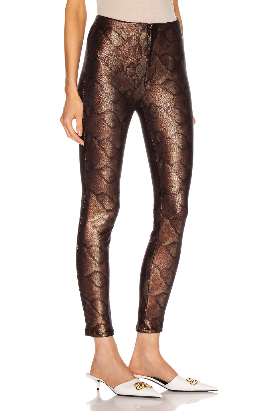 Image 2 of MOTHER High Waisted Seamless Looker Ankle in Slither