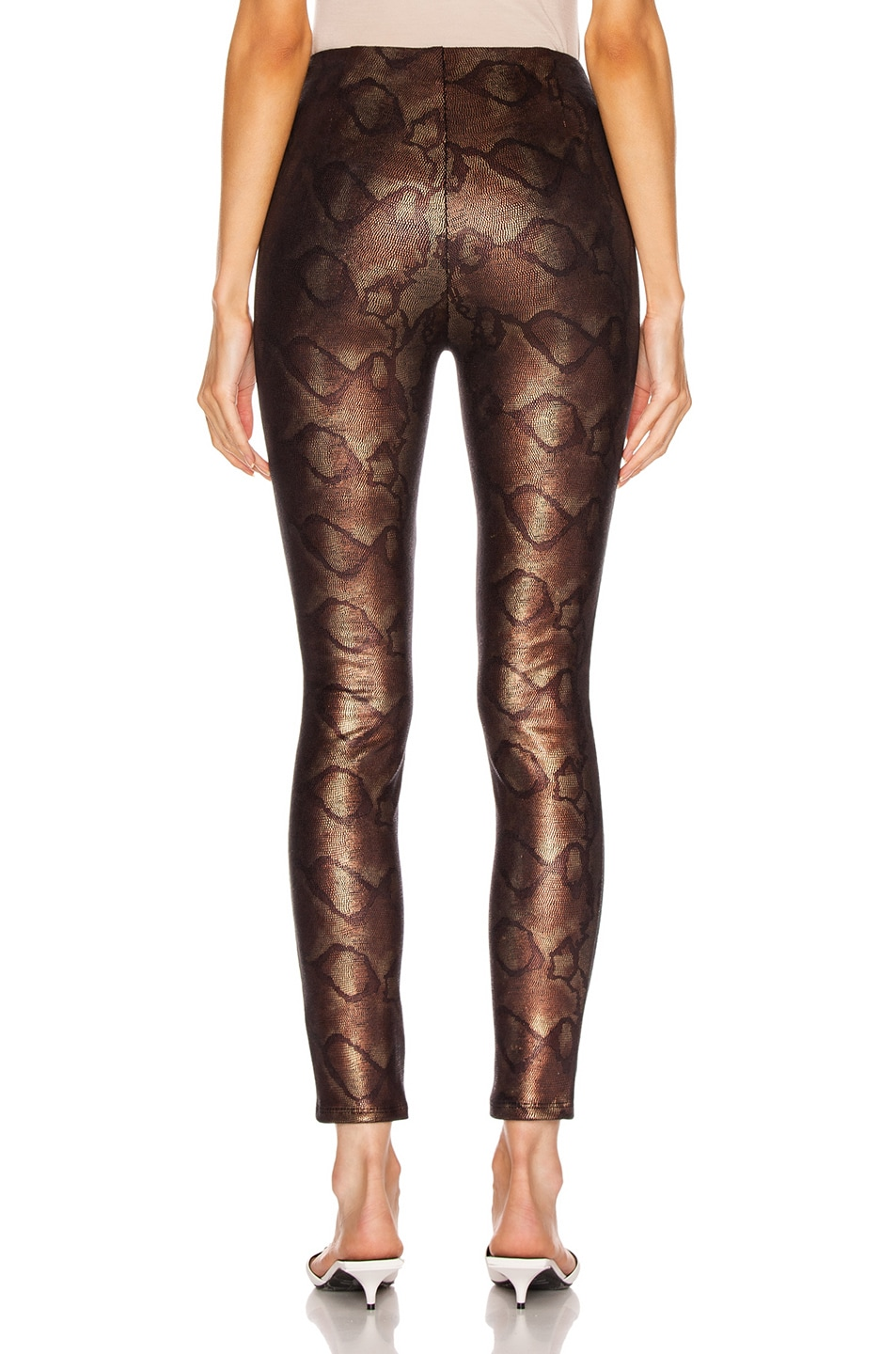Image 3 of MOTHER High Waisted Seamless Looker Ankle in Slither