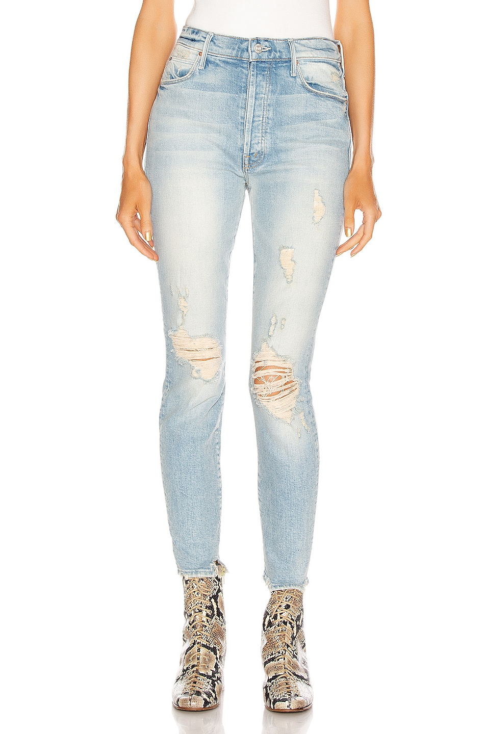 Image 1 of MOTHER Stunner Ankle Skinny in Say Amen, Again!
