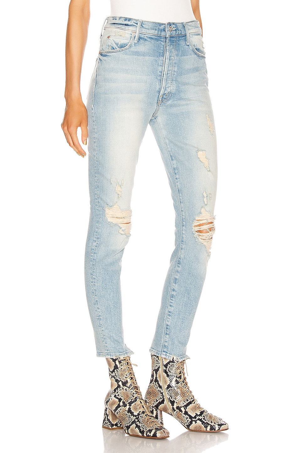 Image 2 of MOTHER Stunner Ankle Skinny in Say Amen, Again!