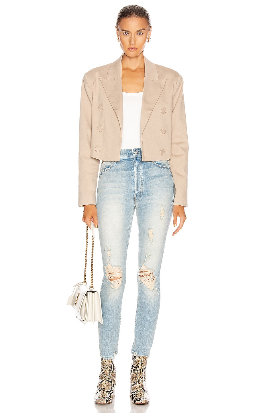 Image 4 of MOTHER Stunner Ankle Skinny in Say Amen, Again!