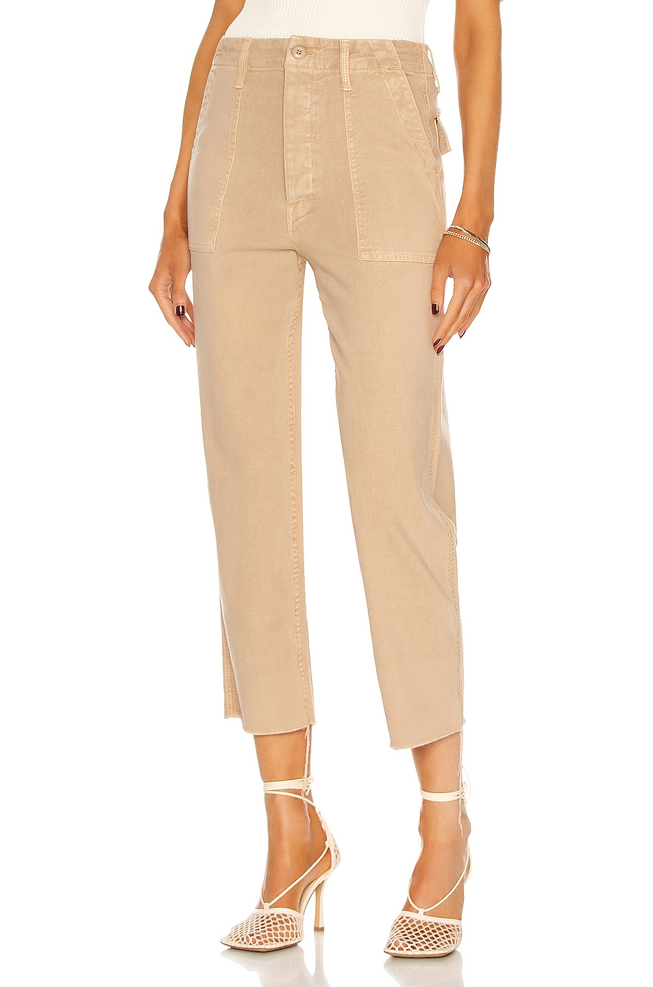 Image 1 of MOTHER The Patch Pocket Private Ankle in Khaki